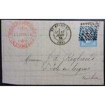 França 1 8 7 4 Carta Circulada Com Selo Tipo Céres De 25 Cts