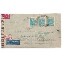 Brasil - Envelope Circulado Aberto Pela Censura - 1944!!!