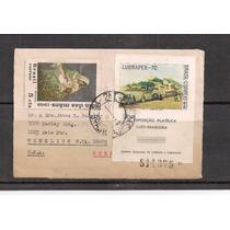Brasil - Envelope Circulado Porte Bloco Lubrapex 70 - 1970!!