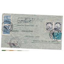 Carta De Castro Alves - Ba P/ Cincinati - Eua 1941 - Env060