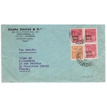 Carta São Luiz - Ma P/ França - 1933 - Env 086