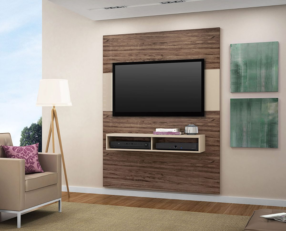 Rack Bancada Suspensa Universal C Painel P Tv Lcd Led Sofa Pictures to  #814A60 1200x968