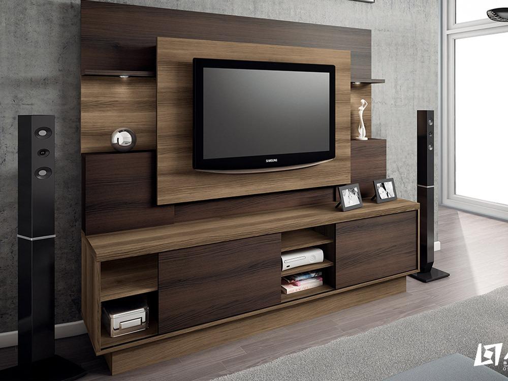 Sala De Tv Tipo Home ~ Home Para Sala De Tv Modelo Aron  R$ 780,00 no MercadoLivre