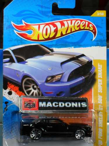 Hot Wheels Shelby Super Maquina Kitt Exclusivo Macdonis