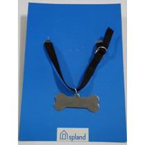 Placa C/ Coleira Identificação De Cães 1 Pç