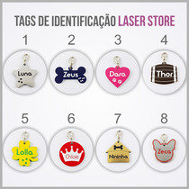 Dog Tag - Plaquetas De Identificação Gravação A Laser