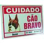 Placa De Advertência Boxer - Cuidado Cão Bravo
