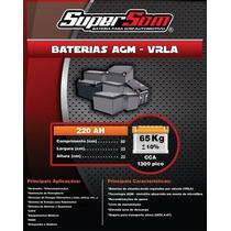 Baterias De Gel 220ah Especiais Pra Som Automotivo E Nobreak