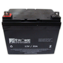 Bateria Stroke 35ah 12v Gel Selada Bicicleta Moto Eletrica