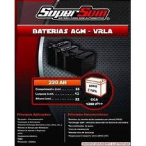 Baterias De Gel 220ah Slim,não Moura,fredom,heliar,impact