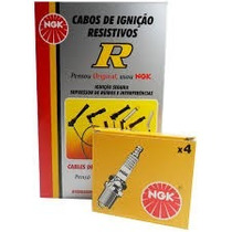 Kit Cabos Ngk + Velas Ngk Pajero Tr4 2.0 Flex 2007 A 06/2009