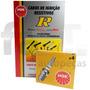 Kit Cabos + Velas Ngk Fiat Palio 1.0 8v Mpi 96/00