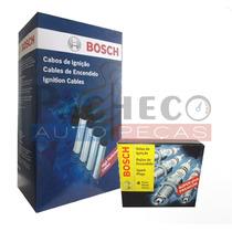 Kit Jogo De Cabo + 4 Velas Gol /fox/ Flex - Bosch