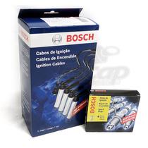 Kit Velas E Cabos Bosch Gol G3 G4 G5 Voyage Saveiro Fox Polo