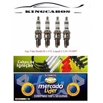 Jogo Velas Honda Fit 1.4 03, Legend 3.2 24v V6 9697