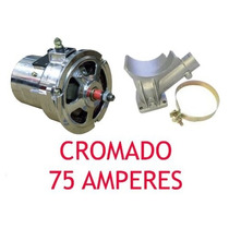 Kit Alternador 75a Cromado + Ignição + Vela +cabo 7mm Fusca