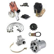 Kit Alternador 55ah+ignição Eletr+cabo Vela Fusca Kombi Bras