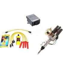 Kit Distribuidor Ignição Eletronica Opala 4 Cilindros Cabos