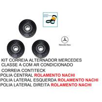 Kit Polia Correia Alternador Mercedes Classe A 160 190 C/ar