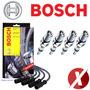 Bosch Jogo De Cabos + Jogo De Velas P/ Santana 2.0 2000 Gas