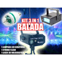 Kit 3 In 1 Balada Lâmpada Led + Projetor Laser + Strobo