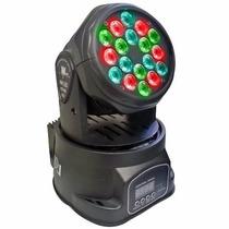 Iluminação Moving Beam Head 18 Leds 3w Rgb Dmx Efeito Strobo
