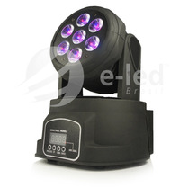 Mini Moving Head 7 Leds De 15w, Rgbwa, Dmx, Penta-led, Prof.