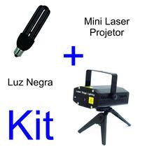 Mini Laser Projetor Holográfico + Lâmpada Luz Negra 28w 3u