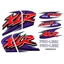 Kit Jogo Adesivo Honda Xlr125 Es 2001 Branca