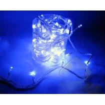 Pisca Pisca Led Azul Natal 100 Lampadas 8 Funções 10 Metros