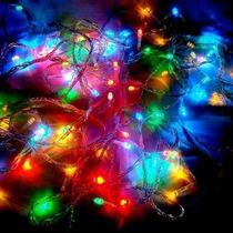 Pisca Pisca Natal 100led 110v 9m Lineares 8 Funções Colorido
