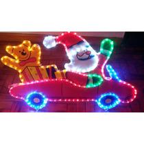 Carro Papai Noel C/ Urso Led Natalina Enfeite Natal Carrinho