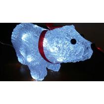 Urso Led Acrílico Enfeite Natalino Natal Pisca 8funções
