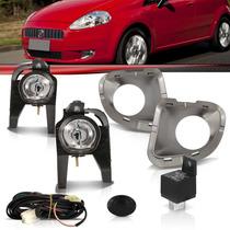 Kit Farol De Milha Fiat Punto 2007 2008 2009 2010 2011