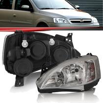 Farol Dianteiro Corsa Hatch/sedan 08/9/10/1 (p/liso) Cromado