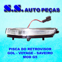 Pisca Seta Retrovisor Gol Voyage Saveiro G5 2009/2011