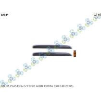 Calha Chuva Plastica C/ Friso Aluminio Curta D20 D40 2p 85/