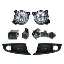 Kit Farol Milha Vw Spacefox Fox 2010 2013 Grade C/ Friso