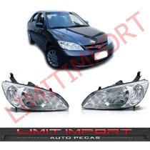 Par Farol Honda Civic Ano 2004 2005 2006
