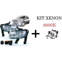 Kit Farol Milha Novo Corsa Classic 11 Á 14 + Kit Xenon 8000k