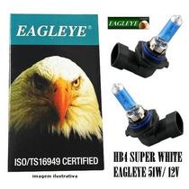 Lâmpada Super Brancas Hb4 Eagleye 51w New Civic, Blazer, Gol