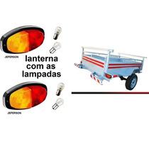 2 Lanterna Carretinha Carreta + Lampadas + Frete Barato