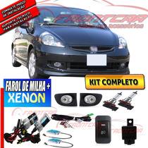 Kit Farol Milha Honda Fit 2003 2004 2005 2006 +xenon Fr