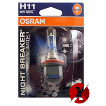 Lâmpada Osram Night Breaker H11 12v 55w +110% Luz 64211nbu