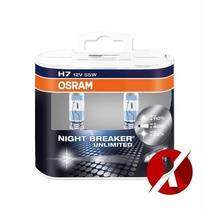 Lâmpadas Osram Night Breaker H7 Par 55w +110% Luz 64210nbu