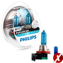 Lâmpadas Philips H11 Crystal Vision Ultra + Pingo Luz= Osram