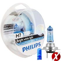 Kit Lâmpada H7 + H7 + Hb4 Philips Crystal Vision Ultra 4300k