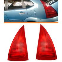 Lanterna Traseira C3 03 04 05 06 07serve Até 12 Vermelha Par
