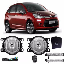 Kit Farol Milha Citroen C3 2013 2014 Lanterna Led Day Light