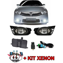 Kit Farol De Milha New Civic 2009 2010 2011 + Kit Xenon